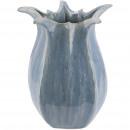 Keramik Vase Midas, D18cm, H21cm, Öffnung 9cm, bla